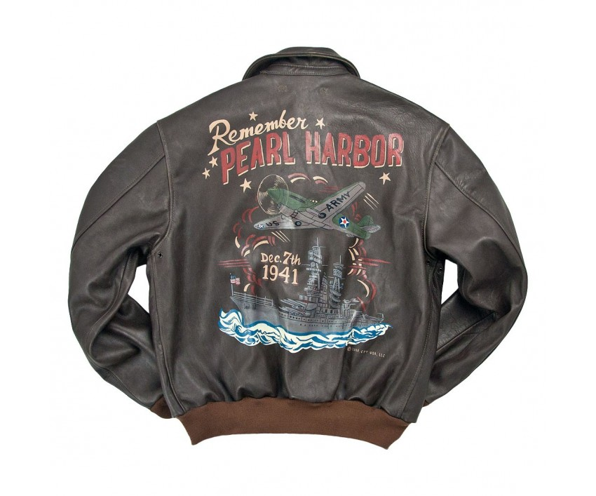 Куртка Пилот Remember Pearl Harbor A-2 Flight Jacket