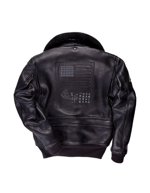 Куртка Пилот Bogard by Mike B x Cockpit USA Stealth Top Gun Bomber Jacket