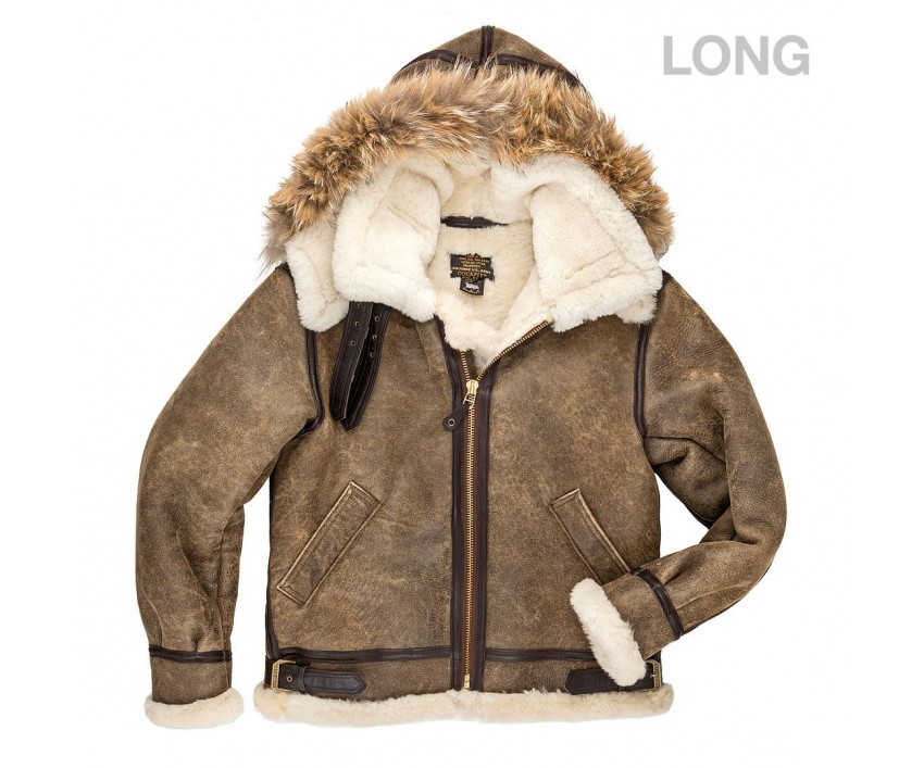 Куртка Пилот B-3 Hooded Sheepskin Bomber Jacket (Long)