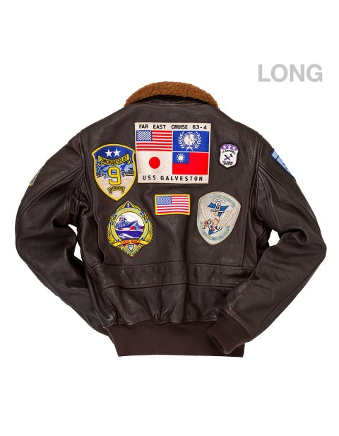 "Куртка Пилот ""Movie Heroes""© Top Gun Navy G-1 Jacket (LONG)"