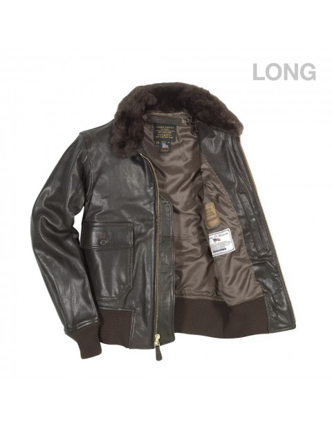 Куртка Пилот U.S. Navy Issue Mil Spec G-1 Jacket (Long)