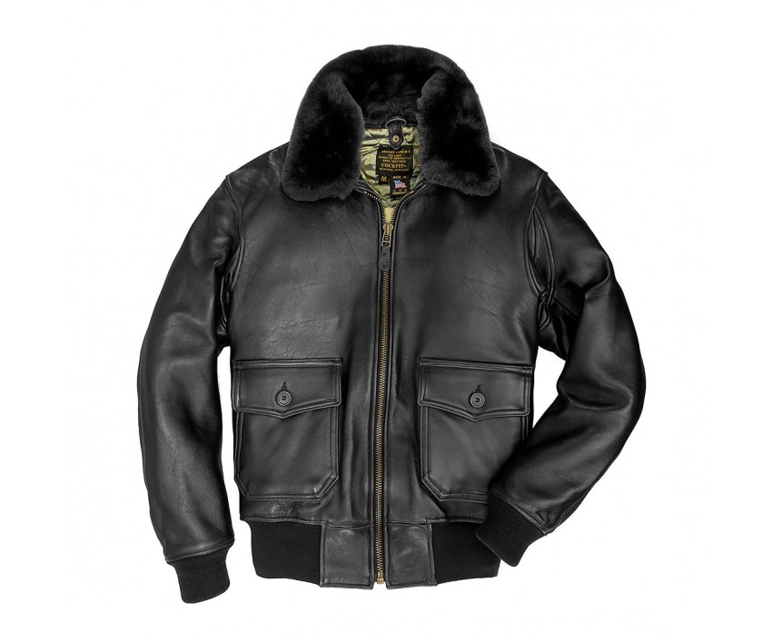 Куртка Пилот U.S. Navy Lambskin G-1 Flight Jacket