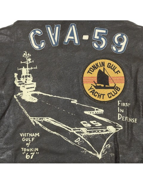 Куртка Пилот USS Forrestal Carrier Pilot's Vietnam Flight Jacket