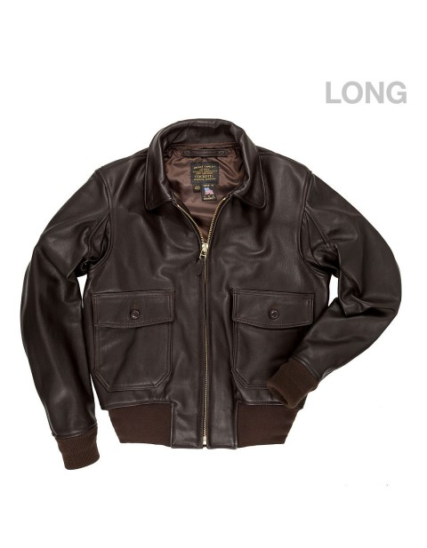 КУРТКА ПИЛОТ G-1 Flight Jacket with Removable Collar (LONG)