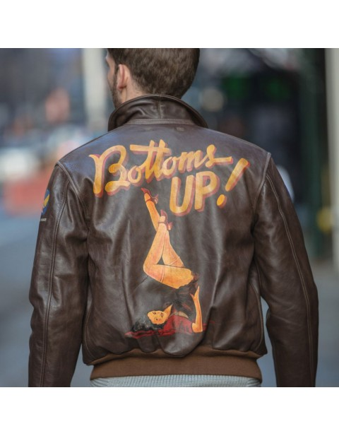 Куртка Пилот 40th Anniversary Bottoms Up A-2 Pinup Jacket