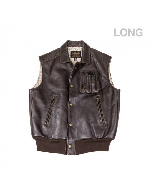 КУРТКА ПИЛОТ The Stearman Leather Vest (Long)