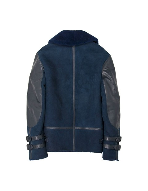 Куртка Пилот Cockpit USA x Kinfolk Blue Sheepskin Bomber Jacket